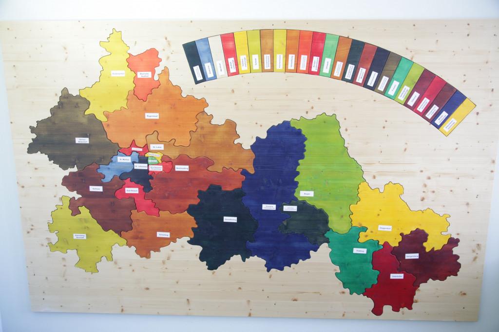 Das Donaudekanat als Puzzle